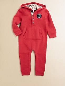 Burberry - Infant's Fleece Hooded Coverall