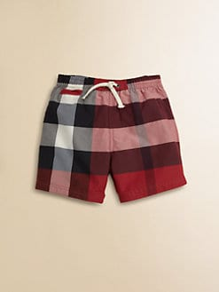 Burberry - Infant's Check Swim Trunks