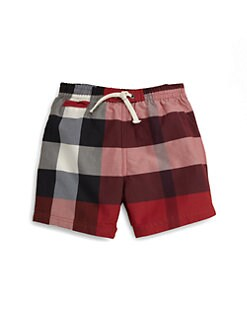 Burberry - Toddler Boy's Check Swim Trunks