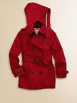 Burberry - Girl's Buckingham Double-Breasted Trenchcoat