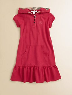 Burberry - Girl's Hooded Pique Dress