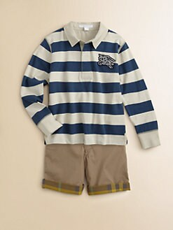 Burberry - Little Boy's Striped Rugby Polo Shirt