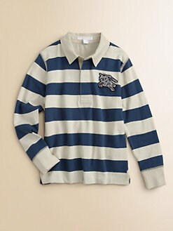 Burberry - Boy's Striped Rugby Polo Shirt