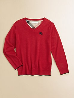 Burberry - Little Boy's Merino Wool V-Neck Sweater