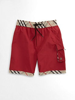 Burberry - Little Boy's Check-Trim Shorts