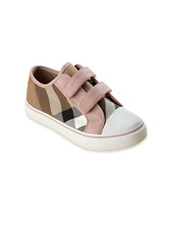 Burberry - Infant's & Toddler's Low-Top Check Sneakers
