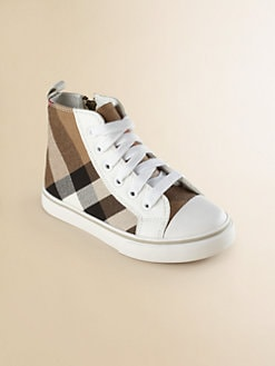 Burberry - Infant's & Toddler's Check High-Top Sneakers