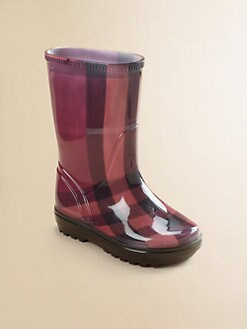 Burberry - Toddler's & Little Girl's Check Rain Boots