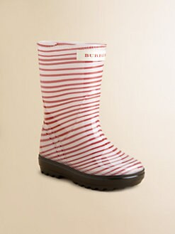 Burberry - Infant's & Toddler Girl's Striped Rainboots
