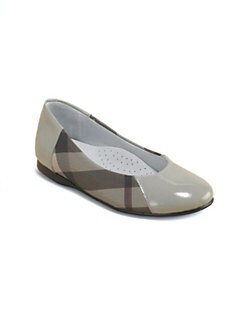 Burberry - Toddler's & Girl's Check Ballerina Flats