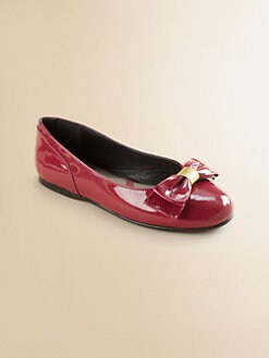 Burberry - Toddler's & Girl's Patent Leather Bow Ballet Flats