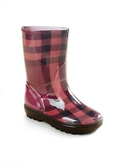 Burberry - Girl's Check Rain Boots