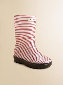 Burberry - Girl's Striped Rainboots