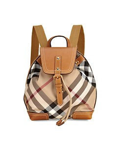 Burberry - Kid's Check Backpack