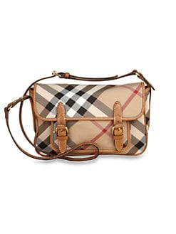 Burberry - Kid's Check Messenger Bag