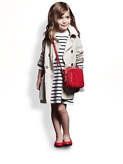Burberry - Little Girl's Packable Skirted Trenchcoat