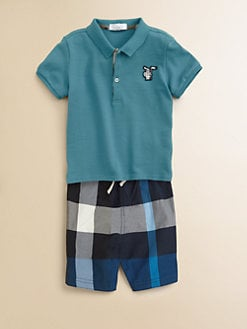 Burberry - Toddler Boy's Pique Polo Shirt