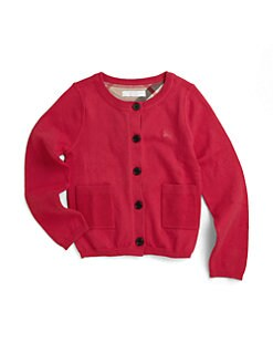Burberry - Little Girl's Cotton Pocket Cardigan