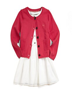 Burberry - Big Girl's Cotton Pocket Cardigan