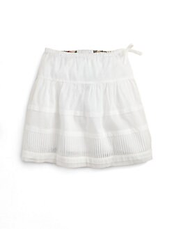 Burberry - Girl's Pintuck Skirt