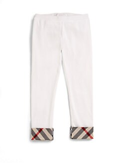 Burberry - Little Girl's Check-Trimmed Leggings