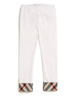 Burberry - Girl's Check-Trimmed Leggings