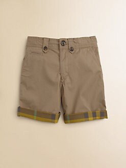 Burberry - Little Boy's Check-Lined Shorts