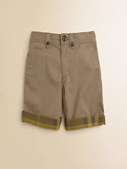 Burberry - Boy's Check-Lined Shorts