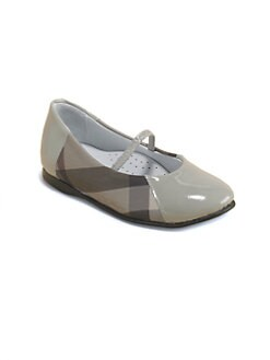 Burberry - Infant's & Toddler's Check Ballerina Flats