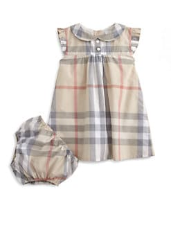 Burberry - Infant's Woven Check Dress & Bloomers Set