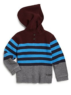 Burberry - Toddler Boy's Striped Wool & Cashmere Hoodie