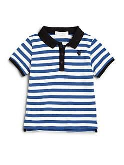 Burberry - Toddler Boy's Mini Retford Striped Polo Shirt