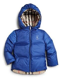 Burberry - Toddler Boy's Rio Reversible Puffer Jacket