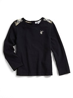 Burberry - Toddler's Long-Sleeved Check-Shoulder Tee