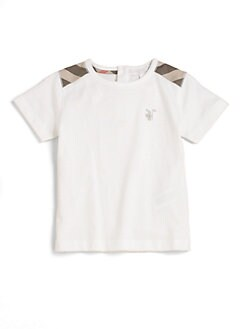 Burberry - Toddler Boy's Check Shoulder Patch Tee