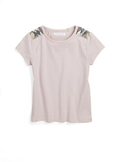 Burberry - Little Girl's Checkered Shoulder Tee