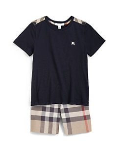 Burberry - Little Boy's Check Shoulder Patch Tee