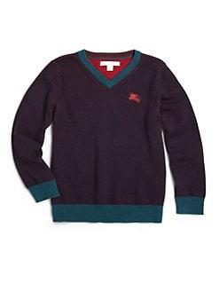 Burberry - Little Boy's Colorblocked Cashmere & Cotton Sweater