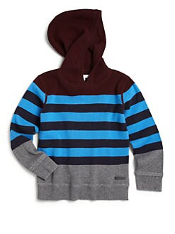 Burberry - Little Boy's Striped Wool & Cashmere Hoodie