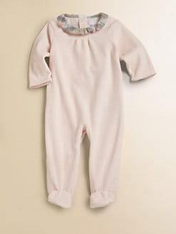 Burberry - Infant's Velour Footie