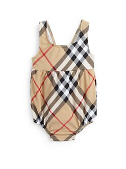 Burberry - Toddler Girl's Suzanna Check One-Piece Swimsuit