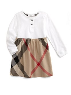 Burberry - Toddler Girl's Cotton Check Dress