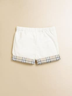 Burberry - Infant's Check Cuff Shorts