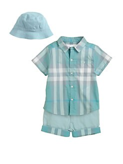 Burberry - Infant's Cotton Check Shirt