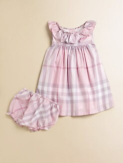 Burberry - Infant's Ruffled Check Dress