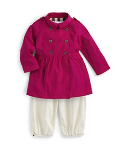 Burberry - Infant's Skirted Nylon Trenchcoat