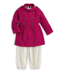 Burberry - Toddler's Skirted Nylon Trenchcoat