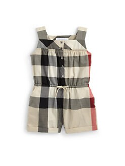 Burberry - Infant's Check Romper