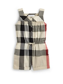 Burberry - Toddler Girl's Check Romper