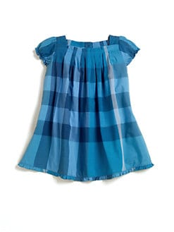 Burberry - Infant's Pleated Check Dress